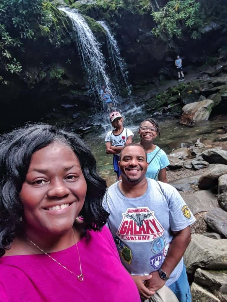grotto falls - family