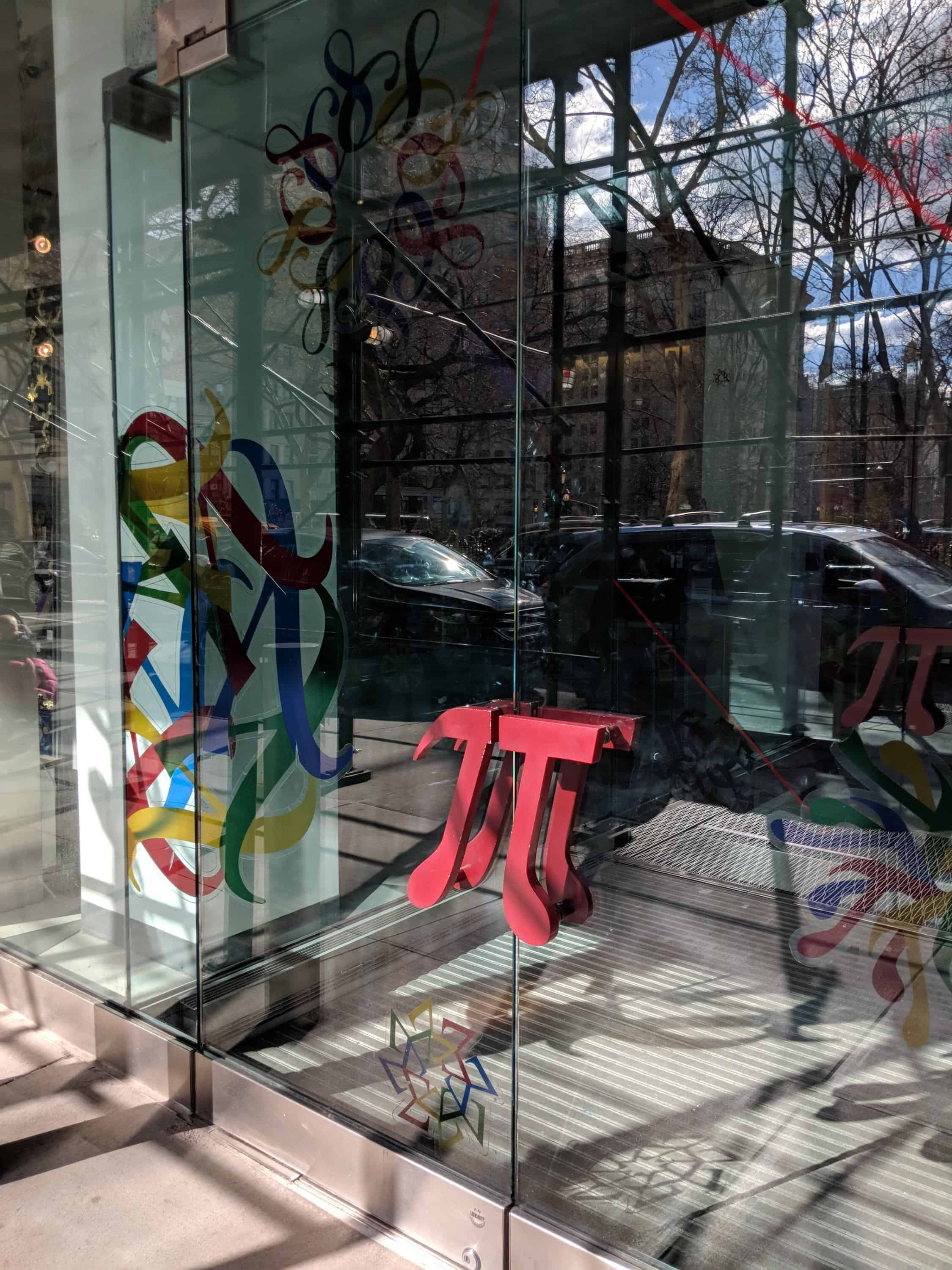 Museum of Mathematics - pi door