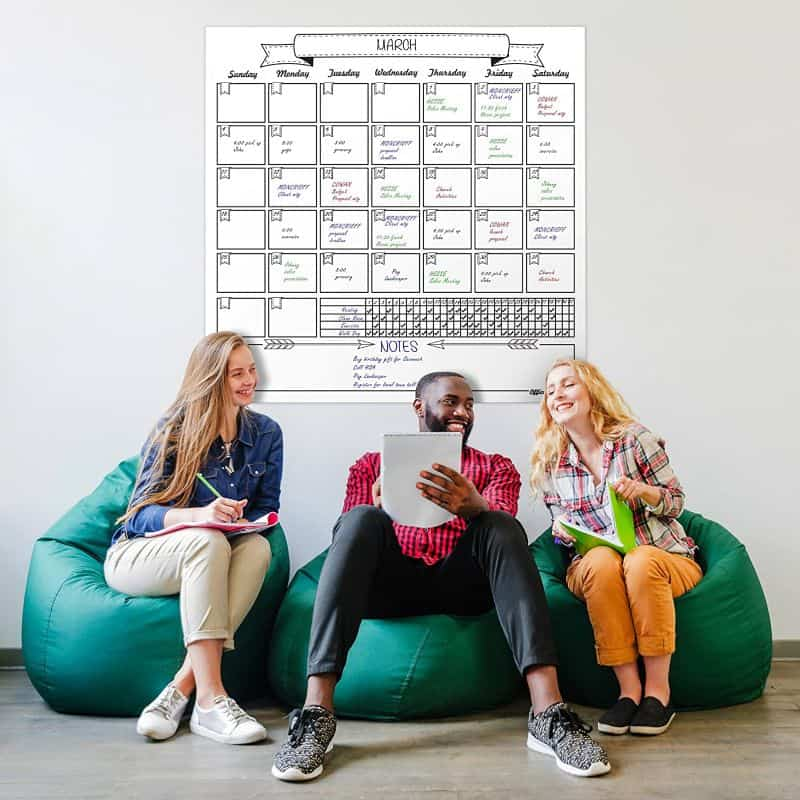plan your month - dry erase wall calendar